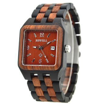 Custom Wooden Watch Manufacturer Personalized Big Square Face