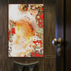 Home decoration 100% Hand painted watercolor abstract metal crafts digital abstract acrylic paintings