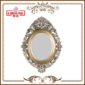 Royal Palace Antique Furniture Home Decor Fancy Decorative Antique Make Up Framed Mirror Glass Wall A0418Y