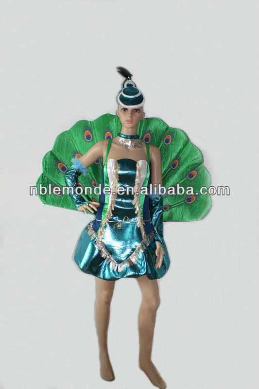 Wholesale high quality fashion peacock costume for women