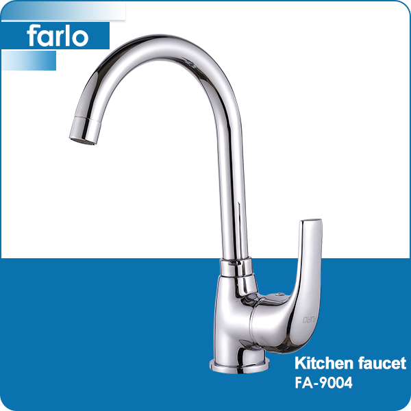 FARLO Brushed Nickel Stainless Steel Single Lever Kitchen Mixer Sink Tap Faucet