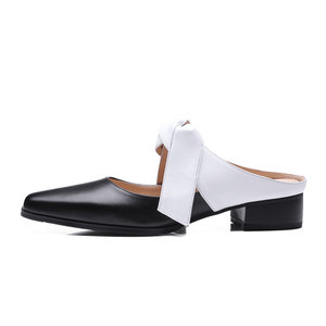 cross straps ladies fancy genuine leather slippers