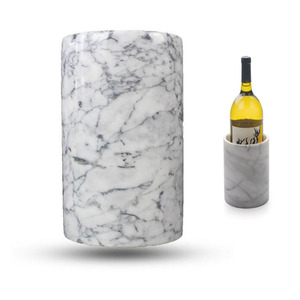Durable and Elegant White Marble Wine Cooler and Tool Holder Ice Wine Bucket