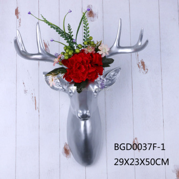Resin deers skull wall arts wall decoration deer antler wall hanging