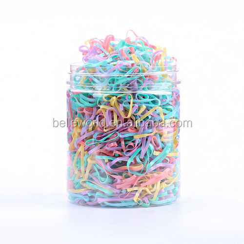2018 New arrival 500 pcs clear box package mini one-off tpu hair rubber band