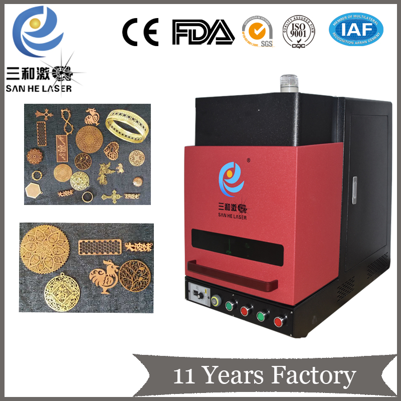 20 W 30 W fibra de marcação a laser máquina para jóias de ouro e metais