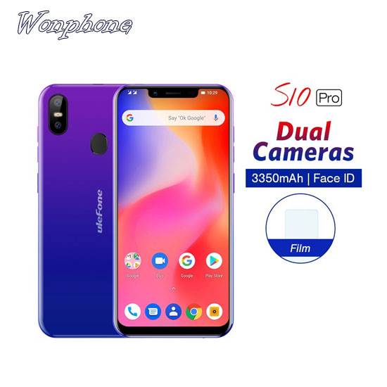 Wholesale Ulefone S10 Pro Mobile Phone Android 8.1 5.7 inch 19:9 MT6739 Quad Core 2GB RAM 16GB ROM 13MP+5MP фото