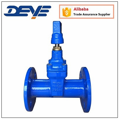Light Weight EPDM Seal DIN PN16 F5 Sluice Rubber Seat Gate Valve