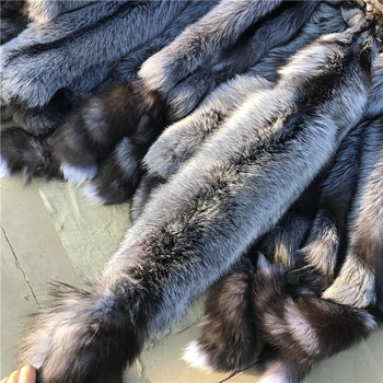 High Quality Natural Color Silver Fox Fur Skin/Real Fur Pelt For Sale