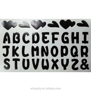 Cheap price letter die cut sticker for party decoration