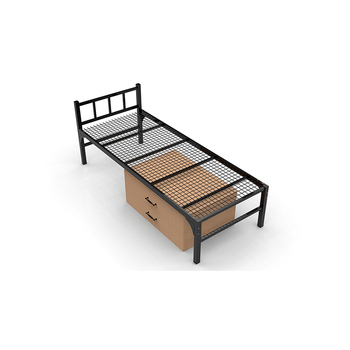 Customized king and single size steel steel metal bed frame for hotel and dormitory and youth hostel