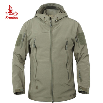 Outdoor TAD Hunting Hiking black custom men's military jackets waterproof tactical military softshell jacket