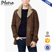 Latest Fashion Fur Lining Leather Coats For Men