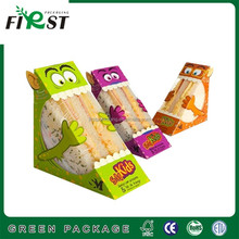2017 First packaging Disposable take away cheap paper fast food box sanwich box with window