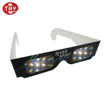 Custom Cardboard Paper Diffraction Glasses Rainbow Glasses for Kids