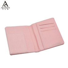 Pink Travel Cute Leather Passport Pouch With Zipper