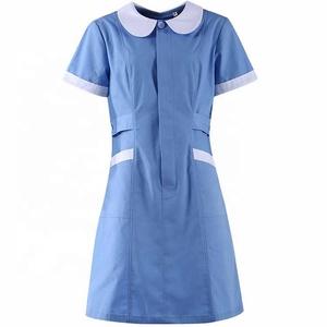 Navy blue nursing uniform medical scrubs suit
