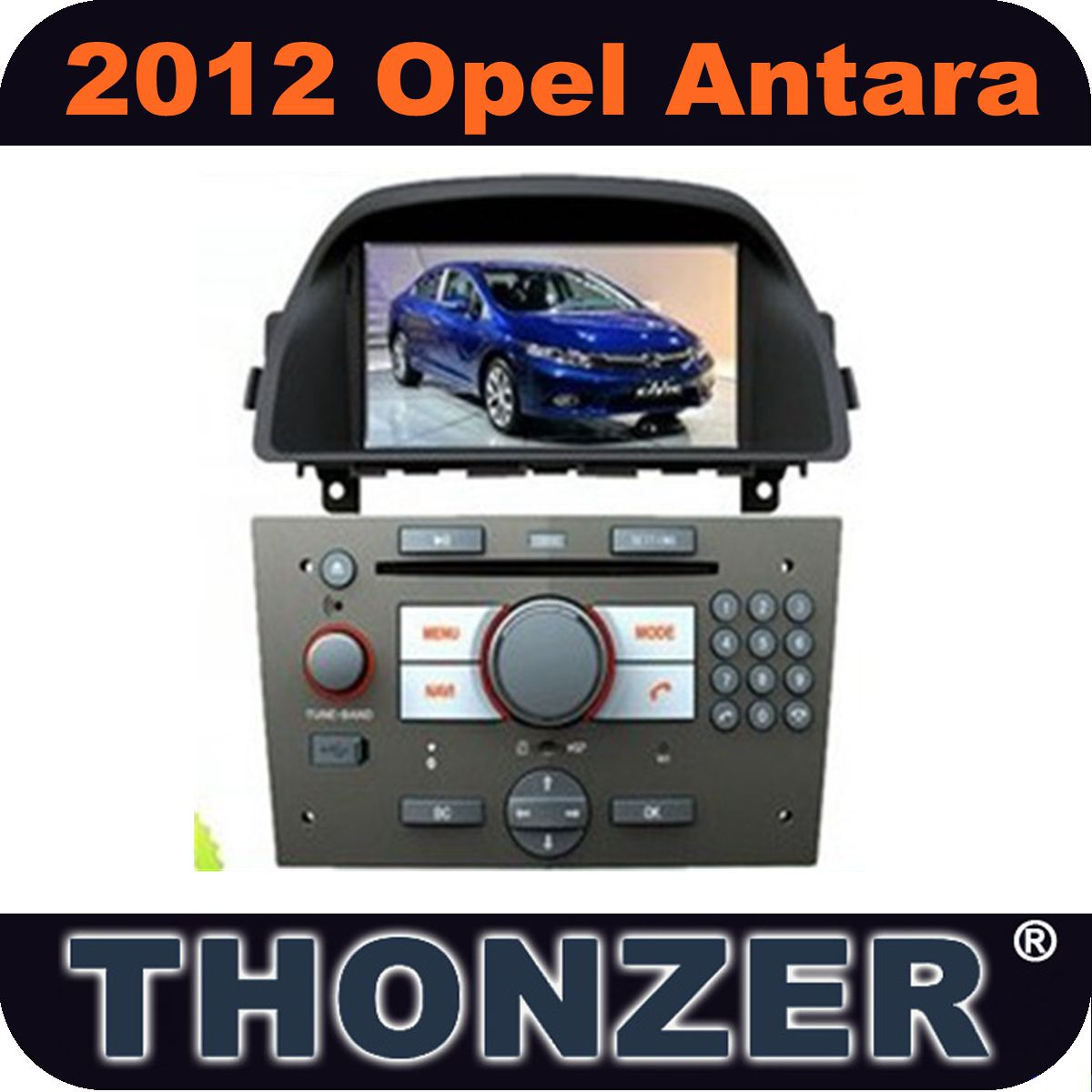 Car DVD Player with GPS for 2012 Opel Antara with Radio Bluetooth Ipod 6 CD Disc PIP