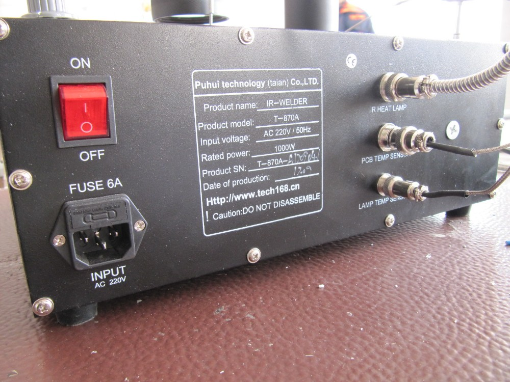 estaci/ón de trabajo para soldar Welder IRDA BGA SMT SMD Estaci/ón de control de calefacci/ón por infrarrojos T-870A