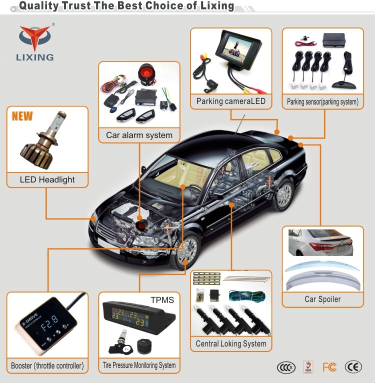 Factory Price Universal Manual Car Alarm System With