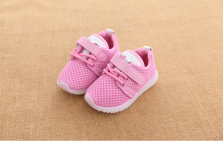 New arrival breathable safety kids sports led shoes
