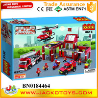 Large scale fire rescue block enlightenment building block kids educational toy for sale