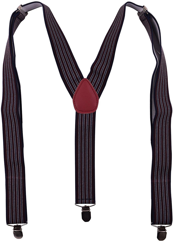 BODY STRENTH Y Back Suspenders Wide Adjustable Braces for Men Wedding Tuxedo