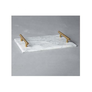 Wholesales cheap white marble serving tray marble wedding decorative tray