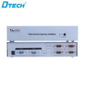 DTECH 500MHz 2048x1536 2 input to 4 output VGA Switch Splitter