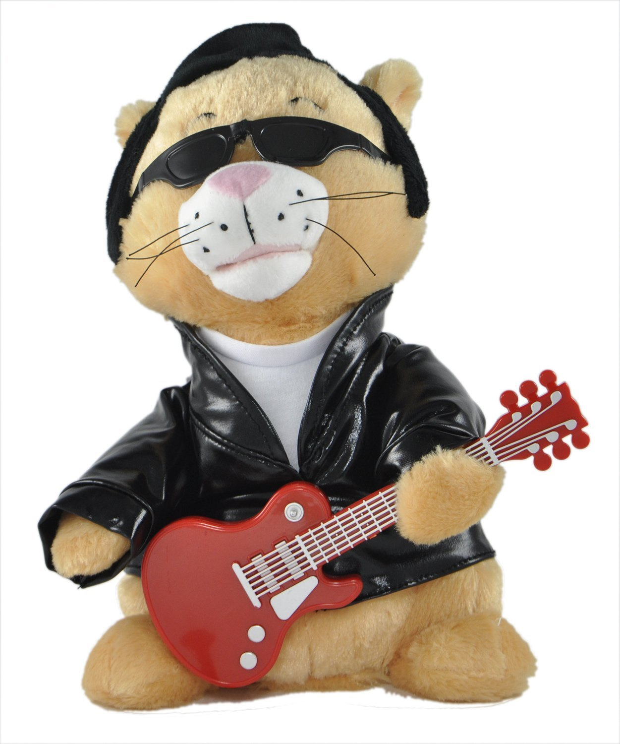 "Cuddle Barn Animated Singing and Dancing Plush Cat ""Kool Kat""- Sings ""Rock This Town"""