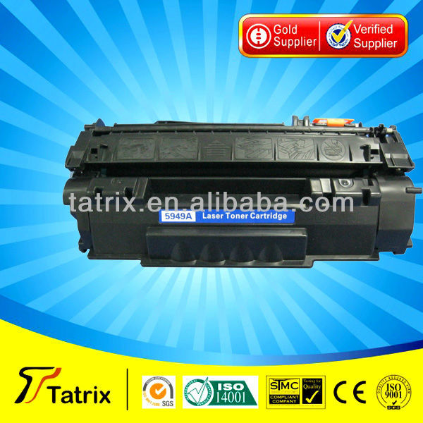 Q5949A Toner compatible for hp Q5949A toner cartridge used in for hp 1320 laserjet printer or for canon lbp3300
