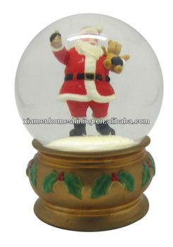 100mm christmas outdoor santa snow globe buy santa snow for Outdoor christmas globes
