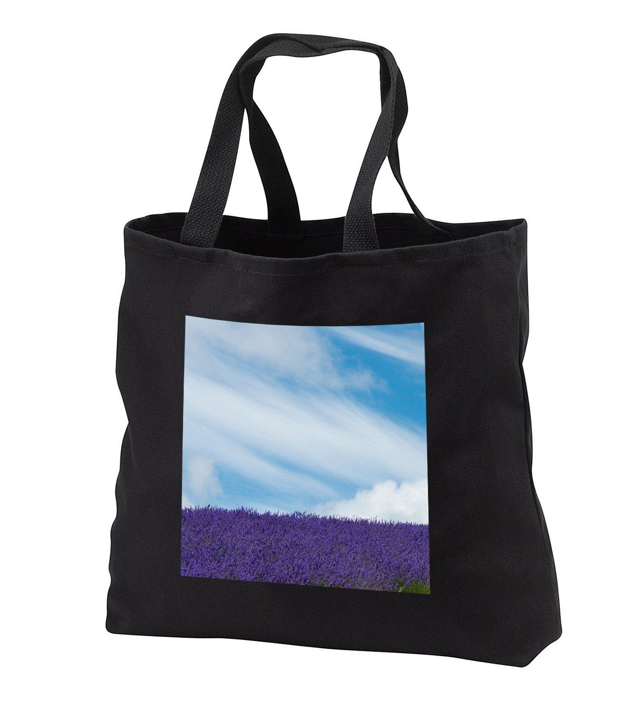 tb_225875 Danita Delimont - Clouds - Lavender farm, Furano, Hokkaido Prefecture, Japan - Tote Bags