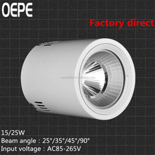 New high quality high power led 25w cob downlight wholesale price RA>95,110LM/W,led round white housing downlight
