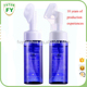 plastic cosmetic foam pump dispenser spray applicator bottle with brush top