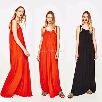 4513a25573a2 Для Женщин Летнее Платье Для Корейской Моды Обувь Девочек Длинные Strappy  ...
