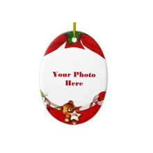 ceramic christmas hanging funny photo frame