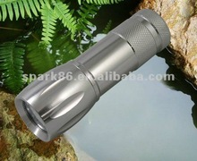aluminum pocket torch - mini 9led flashlight(AAA batteries changeable,tail switch)
