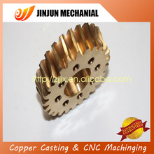 textile brass gear with 6 holes on alibaba top manufacturer