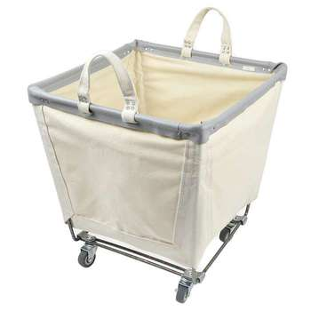100 cotton canvas laundry hamper basket with wheels