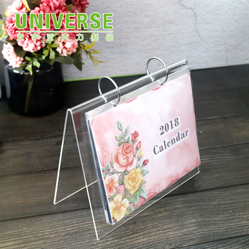 Universe L Shaped Desktop Plastic Box Acrylic Calendar Stand Frames