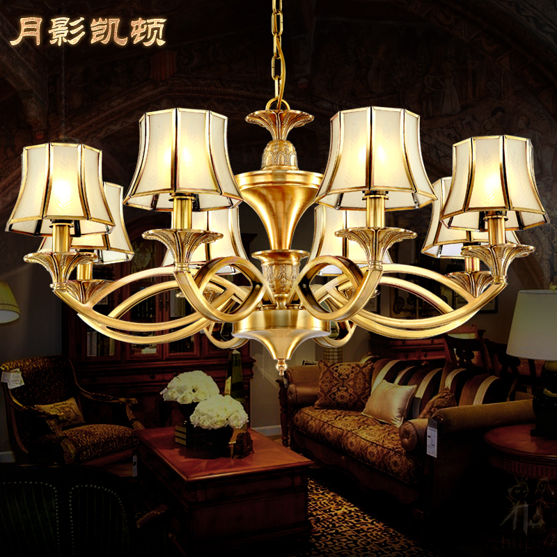 lustres europ ennes salon lampes clairage lustres en cuivre am ricaine art. Black Bedroom Furniture Sets. Home Design Ideas