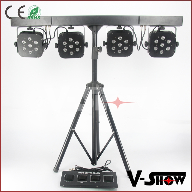 LED par 64 led flat par light led par 4in1 RGBW/A 7X10w LED bar kit led par light for disco dj show