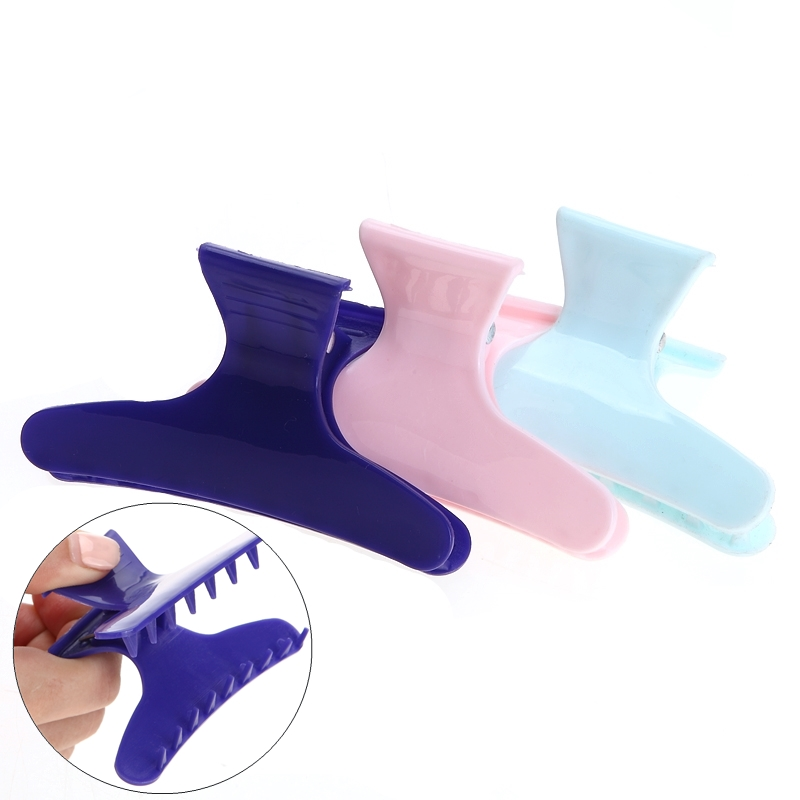 3pcs/pack Colorful Butterfly Holding Hair Claw Section Styling Tools Hair Clamps Clips Claw Hold Hair Styling Hairdressing Tool