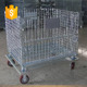 Warehouse stackable storage steel roller cage
