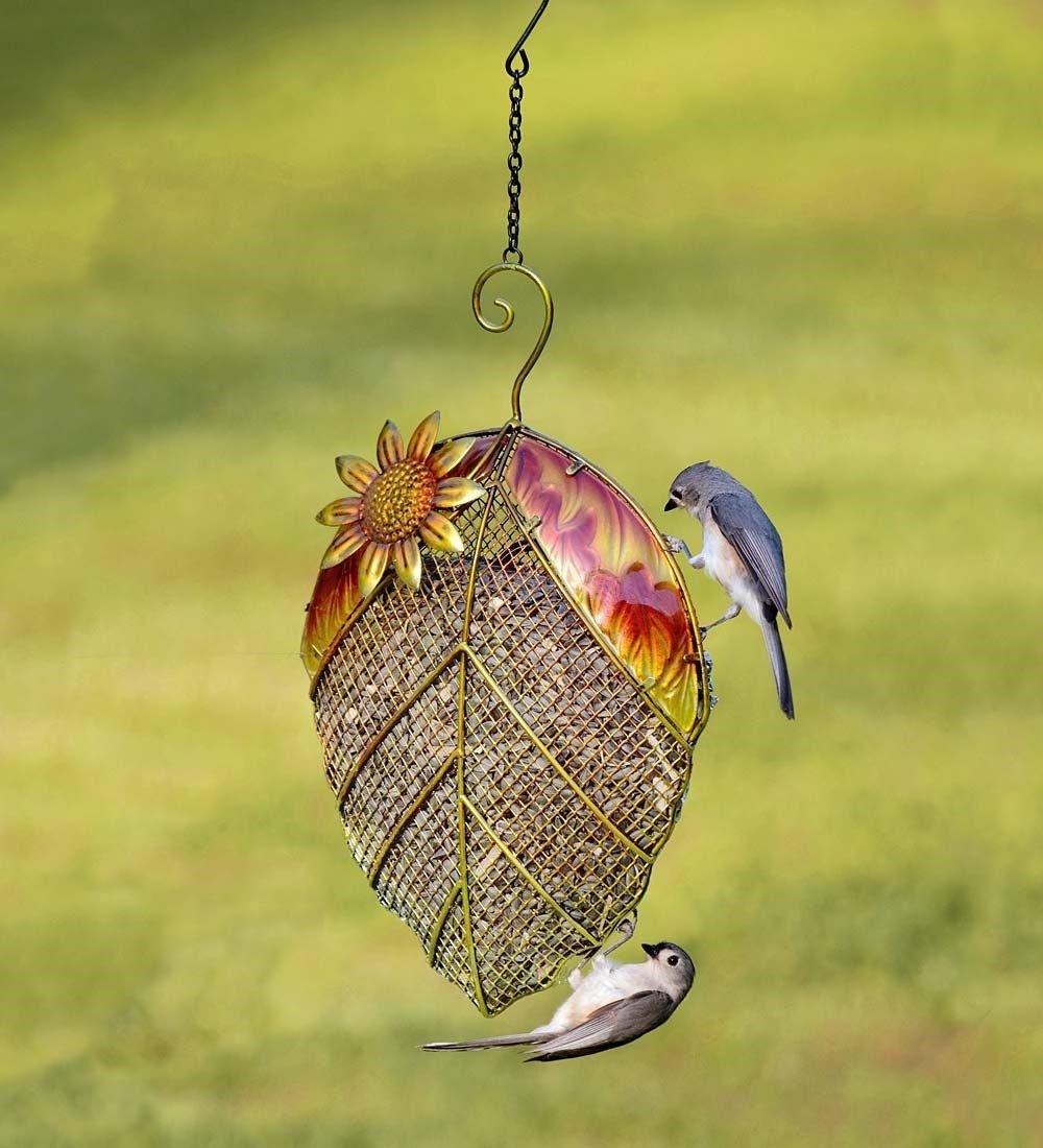 Plow & Hearth Leaf Mesh Bird Feeder