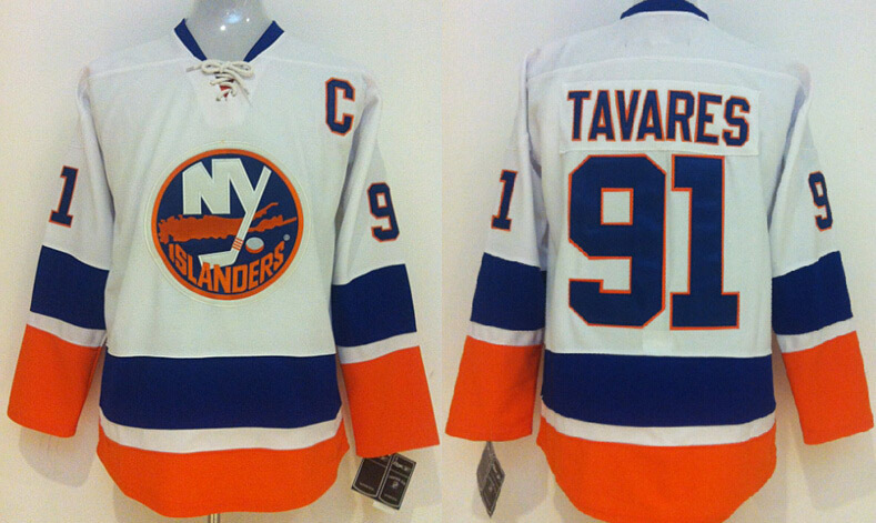 ... Reebok 2012 All NHL New York Islanders Mens Jerseys 91 John Tavares  White Ice Hockey Jersey Embroidery Sewing ... 9280ecf59