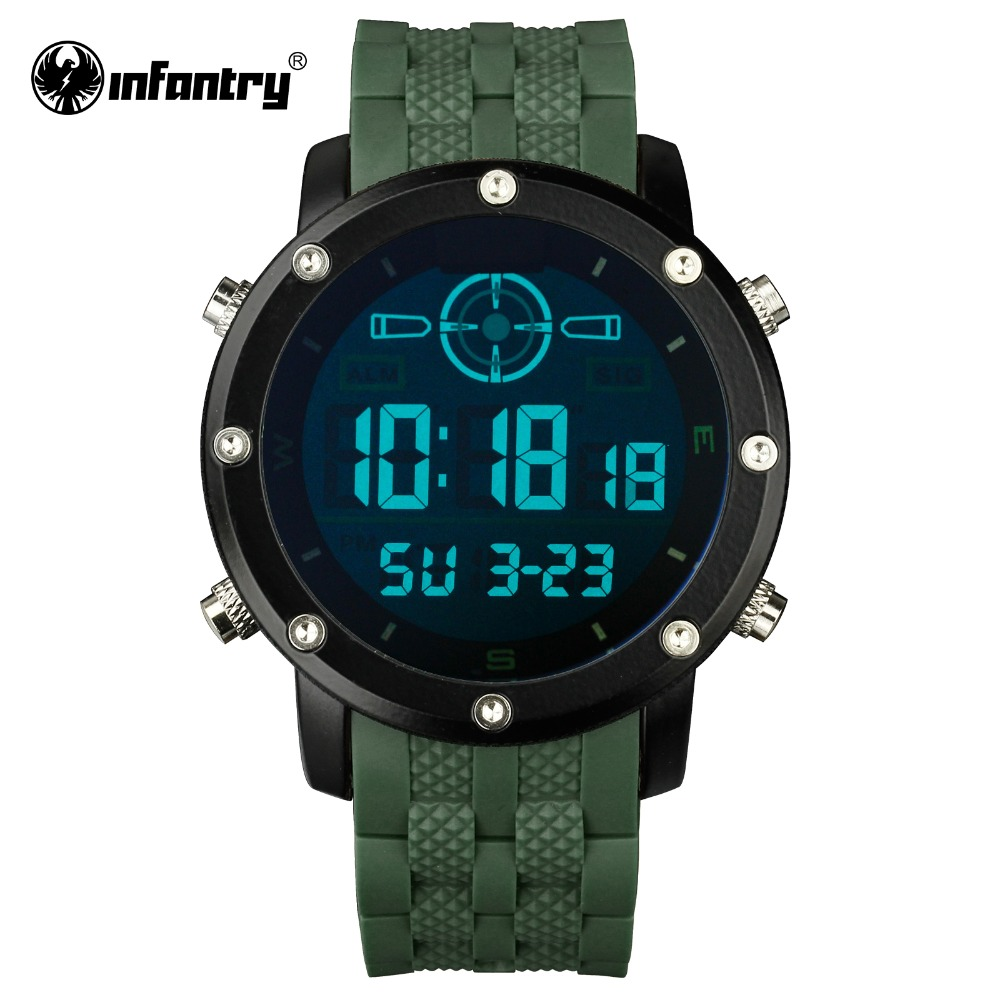 INFANTRY Mens Watches LED Digital Sports Watches for Men ...