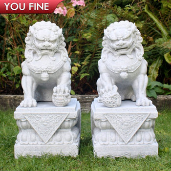 Decorative Stone Outdoor Foo Dog Statues