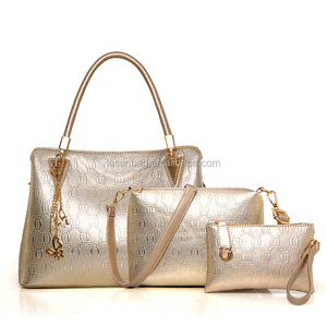 Famous Brand Big Size Shoulder Bags Ladies Metal Tassel Design Girls 3 pcs 1 set Golden Colors Handbag